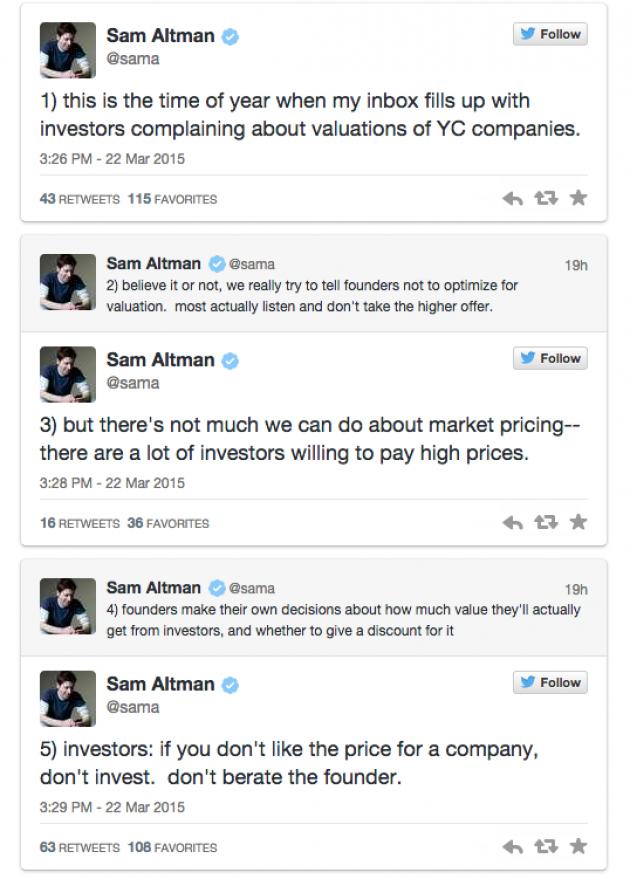 Y Combinator's Sam Altman Thinks That Startups Are