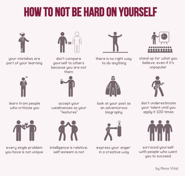 12 ways to stop being so hard on yourself inc check it out solutioingenieria Images