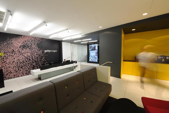 Office floors with distinct personalities for Interior design firms london
