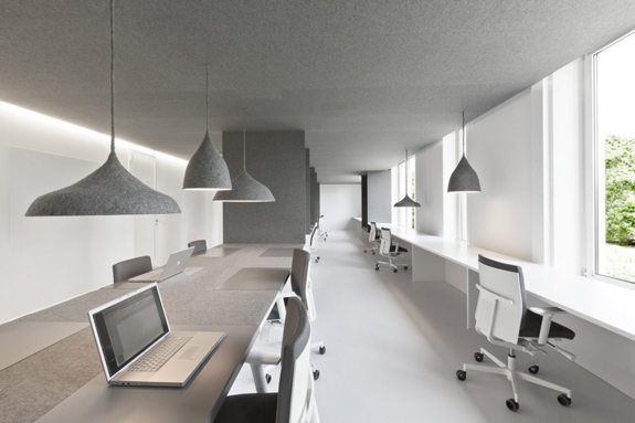 Zen Office Design Throughout While The Monochromatic Fabric Offers Legitimate Function For Office It Also Delivers Powerful Design Aesthetic Namely Use Of Creates Achieving Design Zen Through Soundproofing Inccom